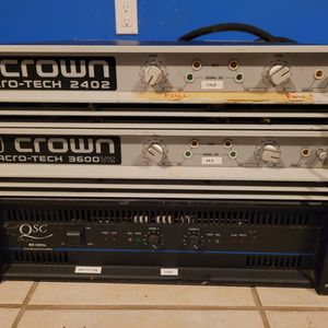 3 Professional Amplifiers for Sale in Branford, CT