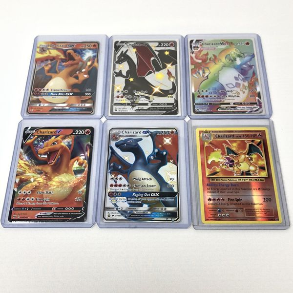 Pokemon Charizard Lot Champions Path, Hidden Fates Pulled And Sleeved By Me