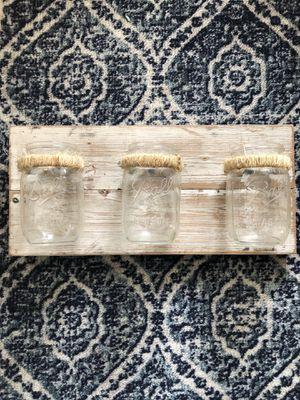 Rustic Farmhouse Mason Jar Wood Decor for Sale in Fort Worth, TX