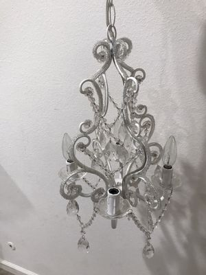 Mini White diamond chandelier for Sale in Anaheim, CA