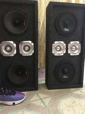 2 Chucheros Box speakers wit amps, equalizer & radio package deal for Sale in New York, NY