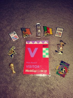 94 World Cup Visitor Pass w/pins for Sale in Springfield, OH