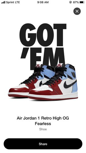 Size 10.5 Air Jordan 1 Fearless for Sale in Chicago, IL