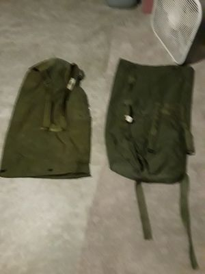 Army Bags. 2 backpack straps. for Sale in Port St. Lucie, FL