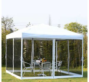 Brand new 10x10 EZ Pop Up Party Wedding Tent Patio Gazebo Canopy Outdoor Mesh Silver w/Bag for Sale in Los Angeles, CA