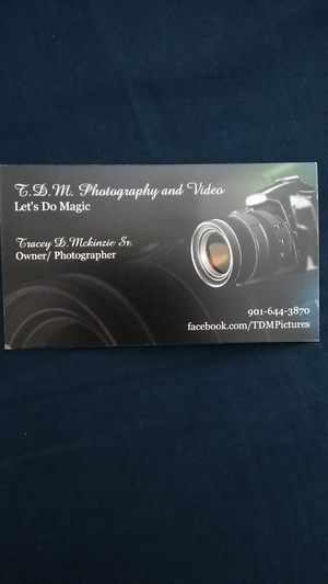 T.D.M. PHOTOGRAPHY AND VIDEO for Sale in Memphis, TN