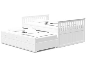 Stork craft double bed with trundle and storage drawers for Sale in Mukilteo, WA