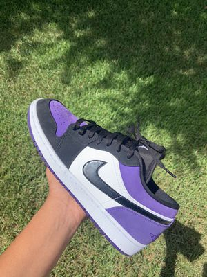 air Jordan 1 low court purple for Sale in Houston, TX