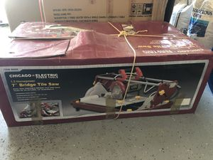 """Chicago Electric 7"""" Bridge Tile Saw for Sale in Monroe Township, NJ"""