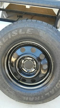 "2 trailer wheels amd tires 14"" ...5x4.5 patter for Sale in Palmdale,  CA"