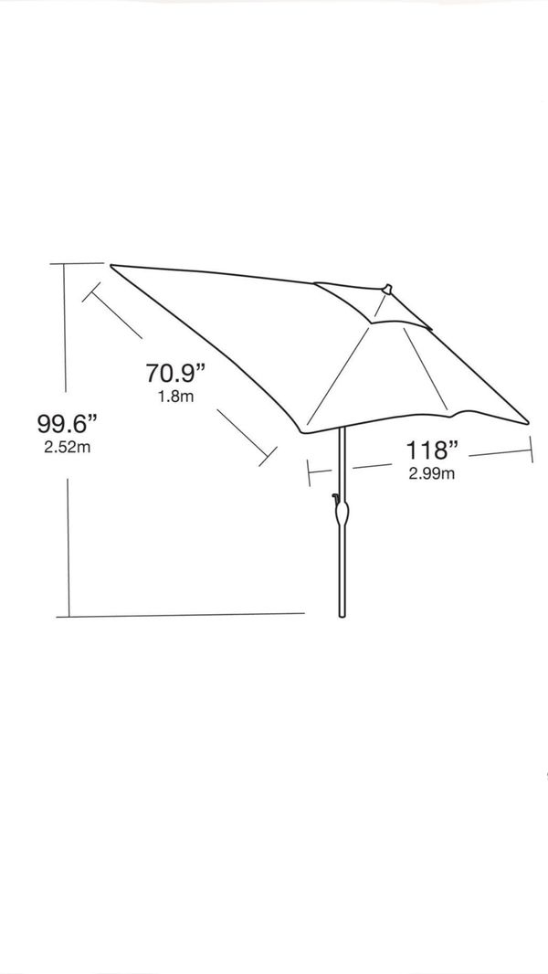 Aluminum Patio Pool Umbrella with Push-Button Tilt summer shade (Brand New)