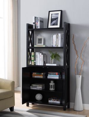 NEW, Stylish Bookcase, Black for Sale in Huntington Beach, CA