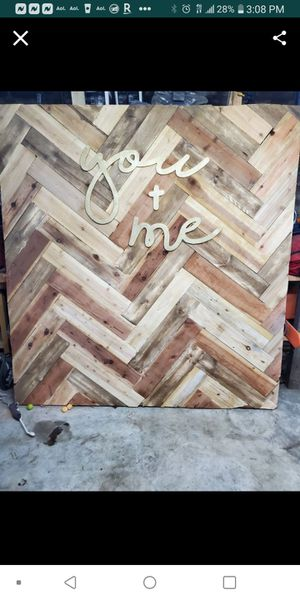 Wooden photo wall for Sale in Moreno Valley, CA