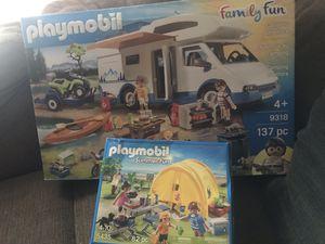 2 brand new playmobil sets Camper plus summer fun tent etc for Sale in Waterbury, CT
