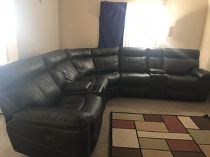 7 piece Black Power Reclining Sectional for Sale in Scottsdale, AZ