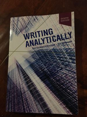 David Rosenwasser and 1 more Writing Analytically 8th Edition ISBN-13: 978-1337559461, ISBN-10: 1337559466 for Sale in Walnut, CA