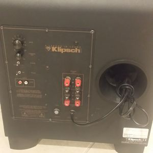 Klipsch 12 In Supwoofer ,everything Is working good and good condition .Only when turn high volume a sound look like broken ,but woofer look Ok. for Sale in Carol Stream, IL