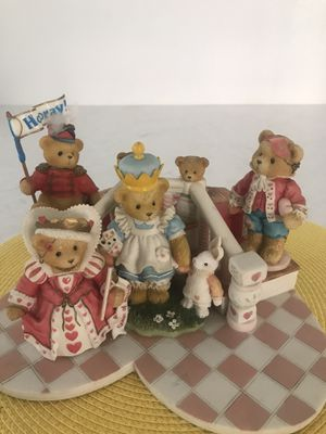 Cherished Teddies, Queen of hearts theme bears, 1995 collection! for Sale in Oceanside, CA