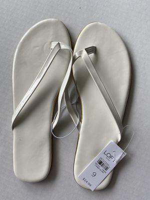 50 % off Loft white 9 M flip-flop for Sale in West McLean, VA