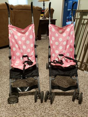 Minnie Mouse umbrella strollers$5 each for Sale in Peyton, CO