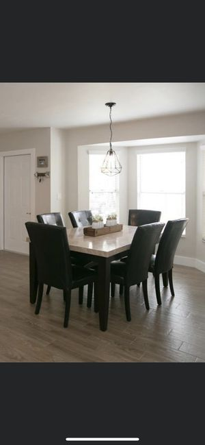 Marble Dining table with 6 chairs for Sale in Cutler Bay, FL