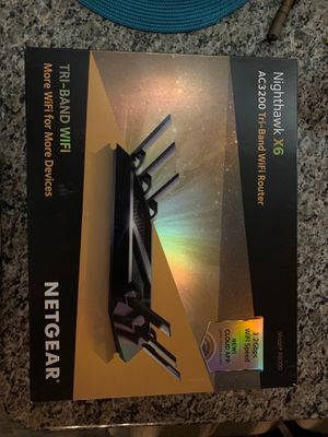 Netgear Nighthawk X6 AC3200 Tri-Band WiFi Router for Sale in Audubon, NJ