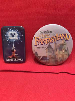 Disney Buttons from 1983 - The Disney Channel and The New Fantasyland for Sale in Chandler, AZ