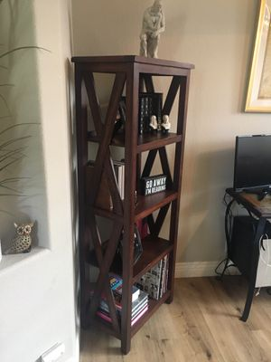 Dark brown bookcase for Sale in Carlsbad, CA