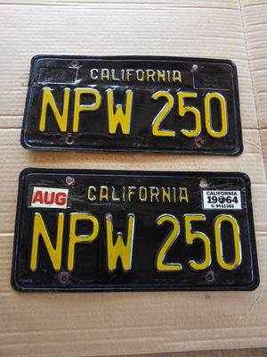 DMV cleared black and yellow plates for Sale in Ontario, CA