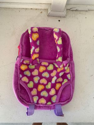 American Girl Doll and/or Baby Doll backpack and carrier for Sale in Temecula, CA