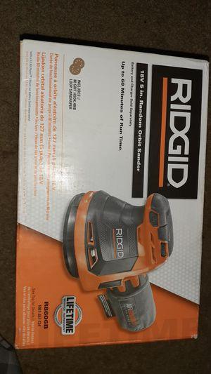 Ridgid 18V 5 in. Random Orbit Sander for Sale in Baltimore, MD