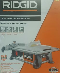 "Ridgid 7"" Table Top Wet Tile Saw Brand New for Sale in Pittsburgh,  PA"