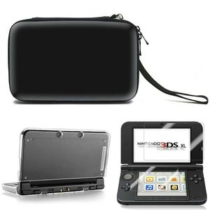 For Nintendo 3DS XL LL Travel Carrying Case Bag &Screen Protector &Cover Gift Black (3dscasebag-black-USA) for Sale in Riverside, CA