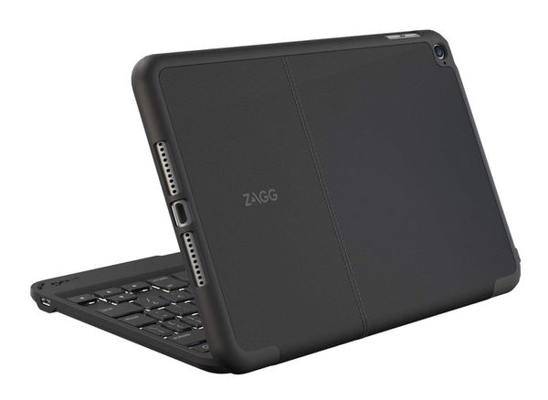 ZAGG Folio Case Hinged with Backlit Bluetooth Keyboard for iPad mini 4 Black