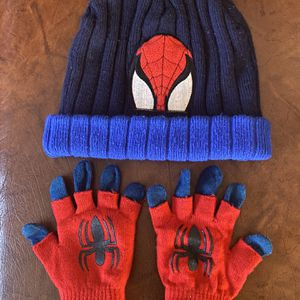 Spiderman Kids Beanie Hat & Gloves $10 for Sale in Saratoga, CA