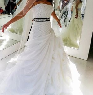 Enzoani designer wedding dress - cleaned and like new! for Sale in Irvine, CA