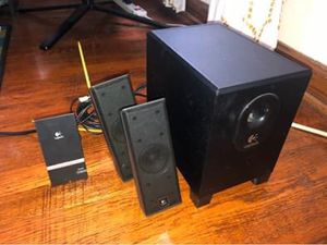 """Logitech X-240 4 Piece Speakers Set Computer Laptop 4"""" Subwoofer M/N:S-0285A GS for Sale in Columbus, OH"""