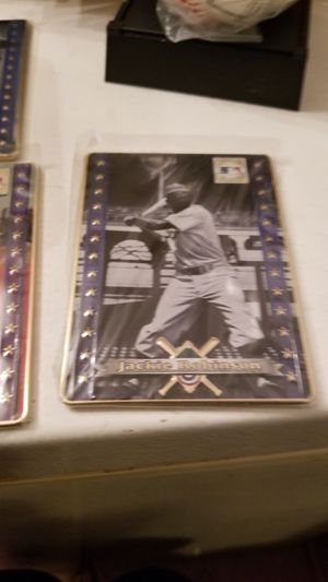 Vintage avon metal baseball cards Jackie Robinson for Sale in Kutztown, PA