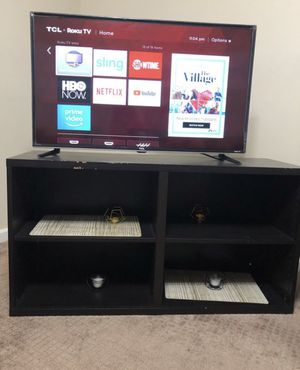 TCL 40-Inch Class LED 3-Series HDMI USB Smart Roku TV, Black+ TV Stand All 150$ for Sale in West Haven, CT