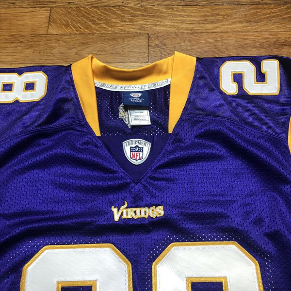 Adrian Peterson Minnesota Vikings Authentic NFL Reebok Vintage Retro Throwback Jersey 48 Medium