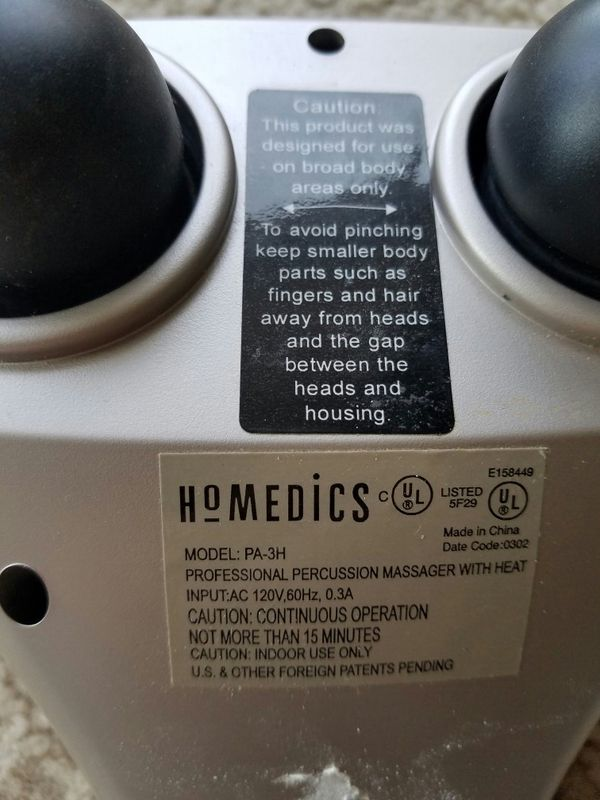 Homedics PA-3H (Handheld Percussion Massager with Heat)