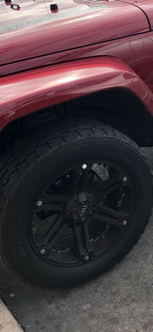 TRUCK/JEEP WHEELS AND TIRES ($100 each wheel and tire ) for Sale in Bakersfield, CA
