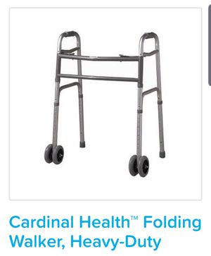 Cardinal health Heavy duty folding walker for Sale in Salem, MA