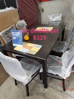 Espresso 7pc dinette set $329 for Sale in Long Beach, CA