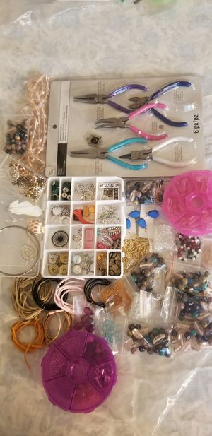 Huge bead lot for jewelry making for Sale in Massapequa, NY