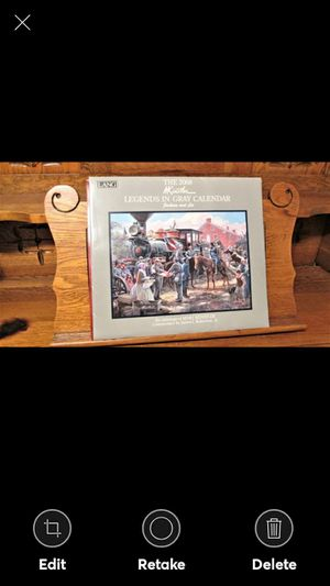 2008 MORT KUNSTLER LEGENDS IN GRAY CIVIL WAR ART CALENDAR LANG for Sale in Lynchburg, VA