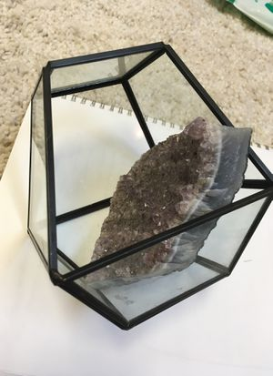 TERRARIUM GLASS rock not included for Sale in Houston, TX