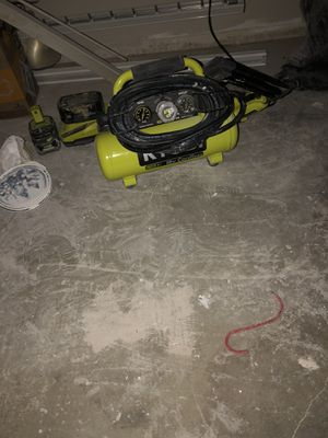 Ryobi compressor with hose and gun for Sale in Los Angeles, CA
