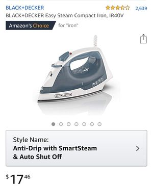 NEW Black & Decker steam iron for Sale in New York, NY