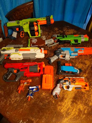8 lot Nerf gun, zombie strike and modulus. for Sale in Chandler, AZ